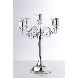 Classic silver plated 5 branch candelabra