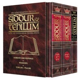 Schottenstein Siddur & Tehillim - Interlinear Translation
