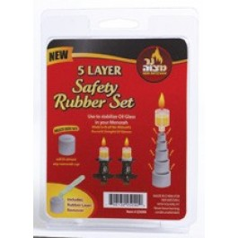 Ner Mitzvah Layered Safety Rubber Set