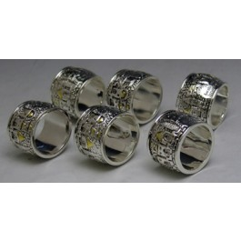 Silver Coded Napkin Rings
