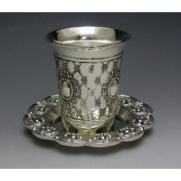 Kiddush Cup With Tray