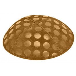 Large Dots Embossed Suede Kipot