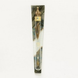 Decorated Glass Tube Mezuzah