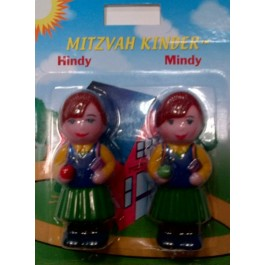 Mitzvah Kinder Twin Sisters Hindy and Mindy