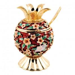 Karshi Jeweled Honey Dish - Floral