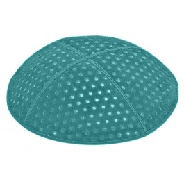 Pin Dots Embossed Suede Kipot
