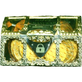 Treasure Chest with Pareve Chocolate Coins