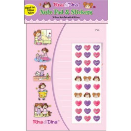 Rina and Dina Mitzvah Notepad