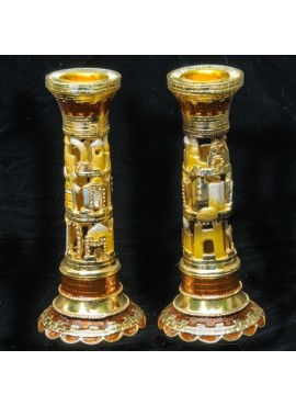 Jerusalem Jeweled Designed Candlestick
