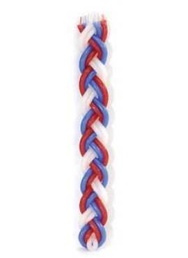 Havdalah Candle Red and Blue Flat
