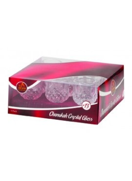 Crystal Glass Oil Cup Holders 9 Pack