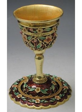 Jeweled Kiddush Cups Rust