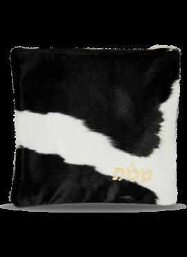 Talit Bag / Tefillin Bag Leather Fur