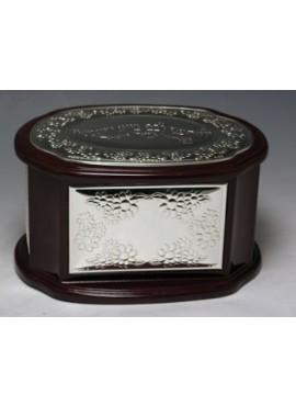 Wood & Sterling Silver Etrog Box