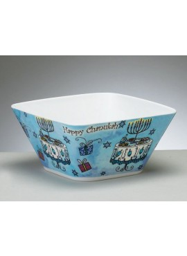 Chanukah Square Melamine Bowl