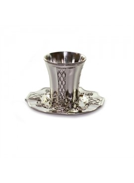 Silver Plated Kiddush Cup & Plate