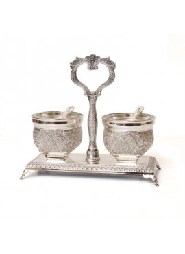 Filigree Open Salt & Pepper Cellars