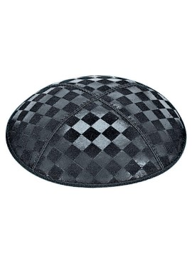 Checkerboard Embossed Suede