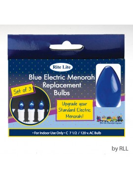 Blue Electric Menorah Replacement Bulbs - Set of 3