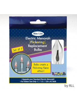 Electric Menorah Flickering Flame Shaped Replacement Bulbs