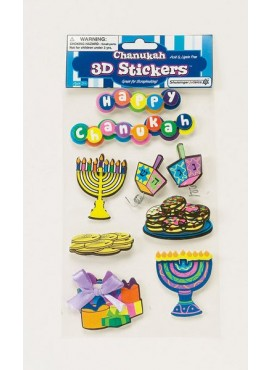 3-D Chanukah Stickers