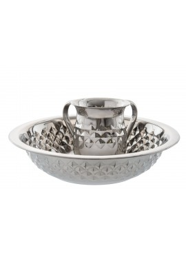 Wash Cup and Bowl Stainless Steel Diamond Shape