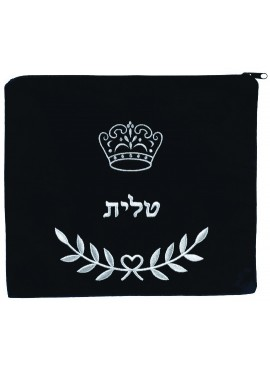 Tallit/Tefillin Bag - Crown and Leaf Design