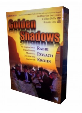 GOLDEN SHADOWS : RABBI PAYSACH KROHN 2 DVDS AND 8 AUDIO CDS