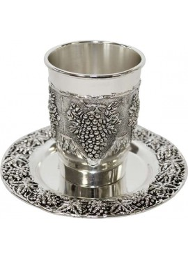 Nickel Plated Kiddush Cup Grape