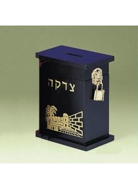 Wood Tzedakah Box