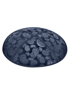Paisley Embossed Suede Kipot
