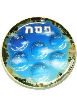 Disposable Seder Plate Jerusalem