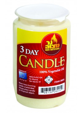 Candles  - 100% Vegetable Oil