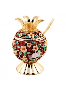 Karshi Jeweled Honey Dish - Floral