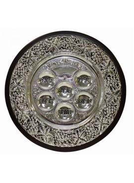 Seder Plate Wood/Silver