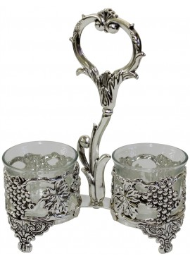 Silver Plated Salt and Pepper Holder