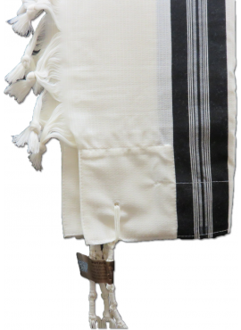 Talis Wool Premiere with Black Stripes OR Solid White