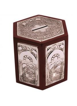 Silver Plated Charity Box -  Hexagonal shape