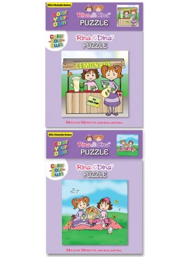 Rina and Dina Color Your Own Puzzles
