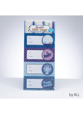 3-D Chanukah Gift Tags, 8/Package