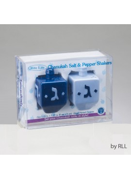 Dreidel Shaped Salt and Pepper Shakers, Ceramic