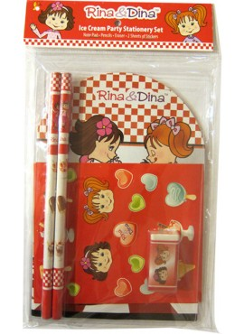 Rina and Dina Ice Cream Stationery Set