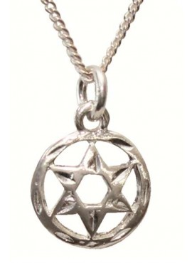 Silver Necklace - Magen David