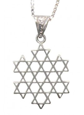 Silver Necklace - Magen David Web