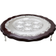 Mahogany & Silver Plated Seder Plate