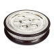 Seder Plate & Matzah Box 2 in 1 Wood and Silver Plated